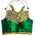 Indian Fancy Blouse - Halter Neck Blouse - Backless Blouse - Party Wear Embroidered Blouse
