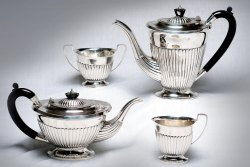 Silver Coffee Sets in Kali Design