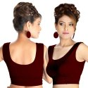 Abhi Round Neck Stretchable Soft Cotton With Sleeveless Blouse