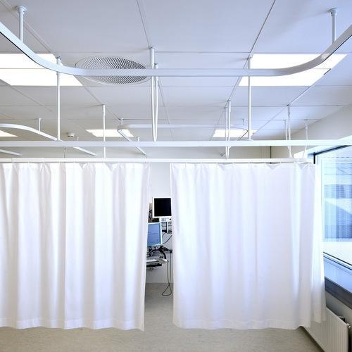ceiling mounted hospital curtain track