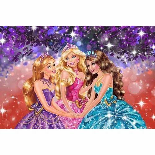 Printed Horizontal Barbie Designer 3d Wallpaper Rs 100 Square Feet