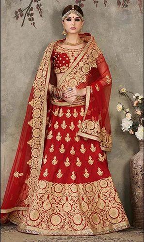 ab5d74bb08 Maroon Color Silk Heavy Embroidered Designer Lehenga Choli, Lehenga ...
