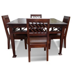Wooden Elis 4 Seater Dining Table, Warranty: 2 year
