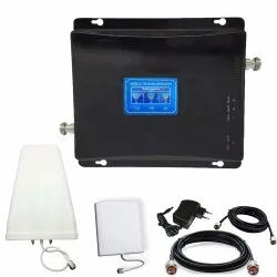 Tri Band 850/1800/2100MHz 2G, 3G & 4G Mobile Signal Booster Fully Kit - Coverage 1500 Sq. Feet