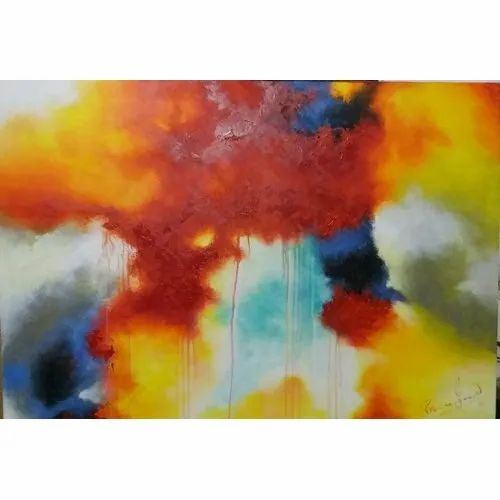 Modern Acrylic Decorative Abstract Contemporary Painting