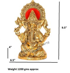 Golden Plated Ganesh