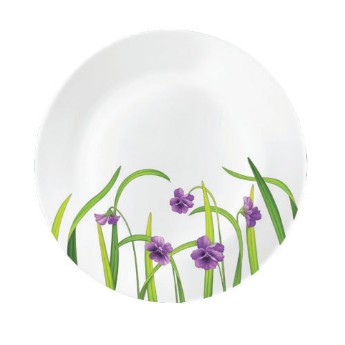 White La Opala Violet Meadows opalware 27pcs Dinner Set, Size: 250 Mm
