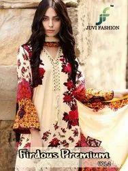 Juvi Fashion Firdous Premium Vol-2 Series 34001-34005 Stylish Party Wear Cotton Satin Suit