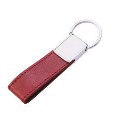 Leather Goat Keyring