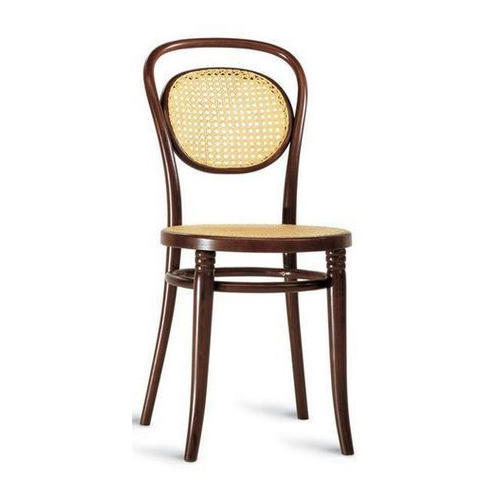 Brown Wooden Cafe Canning Chair