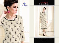 Pure Cotton Printed Traditional Look Kurtis