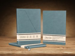 Ash Grey Single Line Blue Ledgers Notebook Diary, For Office