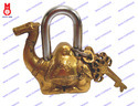 Lock W/Keys Camel Design Statue