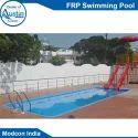 蓝色户外玻璃钢游泳池,游乐园