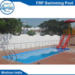 Blue Outdoor FRP Swimming Pool, for Amusement Park