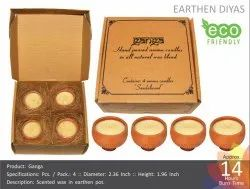 Ganga - Eco Friendly Scented Earthen Candles