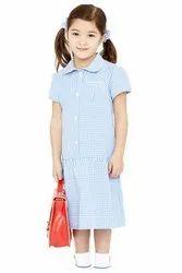 Cotton Printed Girls School Dress