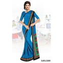 Blue Silk Uniform Saree