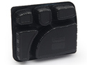 Black Disposable 5 Compartments Plastic Meal Tray