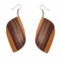 Wooden Women Traditional Earrings