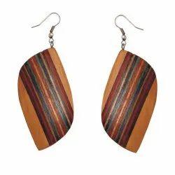 Wooden Women Traditional Earrings