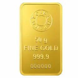 MMTC Gold Bar 50 gm.