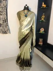 Heavy Silk Saree with Beautiful Diamond Border Work