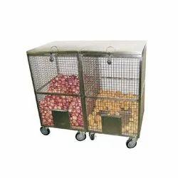 Ss Onion Potato Cage, Capacity: 100-120 Kg, Size/Dimension: 24