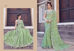 Green Color Ladies Linen Cotton Saree Length: 5.5 m