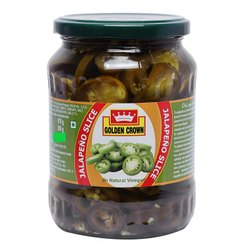 A Grade Green Golden Crown Jalapeno Slice, Packaging Type: Jar, Packaging Size: 1 Kg