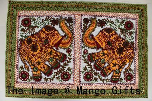 Elephant Embroidered Wall Hangings