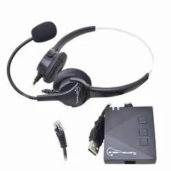Black ABS Voix 920 RJ Headset With Voix 902 USB Adaptor