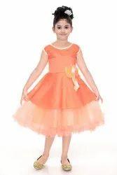978881e72abc1 Generation Next Foam Festive Wear Orange Party Wear Frock For Girls ...