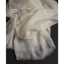 Fine Wool Scarf Open Fringes