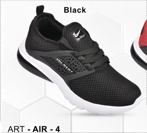 Canvas Running Shoes Men Black Running