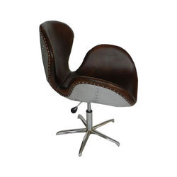 Leather and Aluminium Aviator Swan Chair