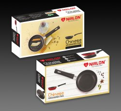 Nirlon Vagharia Non Stick Cookware, Kitchen Cooking Non Stick Tadka Pan, 135mm