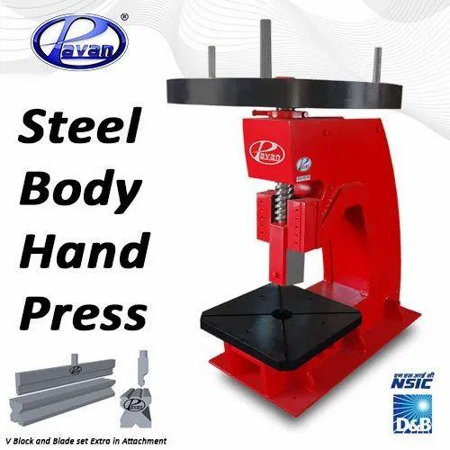 Manufacturer of Mild Steel Body Hand Press Machines & Hydraulic