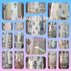 Vinayakam Exports Hand Block Printed Ladies Dupatta