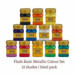 Acrylic Metallic Basic 12 Colours Set