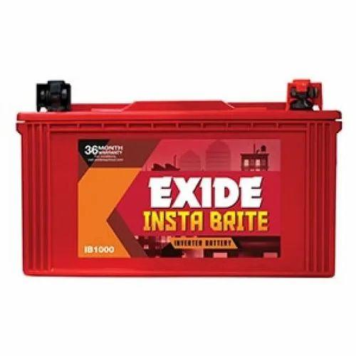 Exide Insta Brite IB1000 100AH Battery