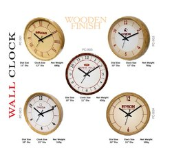 Analog Wall Clock - Wooden Finish, Size: 11 Inches