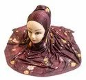 Women's Outdoor Wear Jersey Stretchable Material Printed Hijab Scarf Dupatta