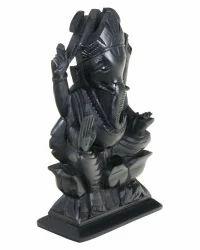 Black Marble Ganesha Murti