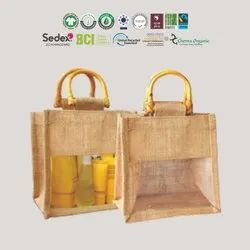 GOTS Organic Cotton Jute Bag