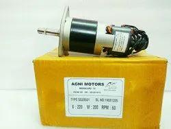 200 Watt 80 RPM Agni Motor - Agni Make Spring Charging Motor Type - SG205S1, Voltage: 220V