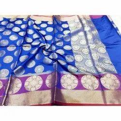 Printed Fancy Banarasi Saree, 6 m (with blouse piece)