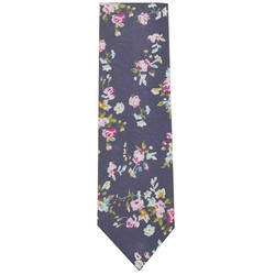 Floral Printed Satin Tie Fabric