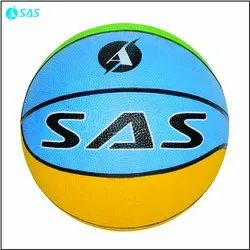 Multicolor Rubber SAS Kids Basket Ball, Size/Dimension: No. 3, For Training And Practice