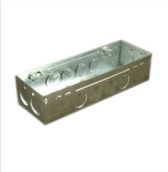 Silver Mild Steel Rectangular Metal Modular Gang Box, for Electric Fitting, Modular Switch Box